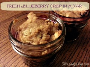 Fresh Blueberry Crisp in a Jar Main
