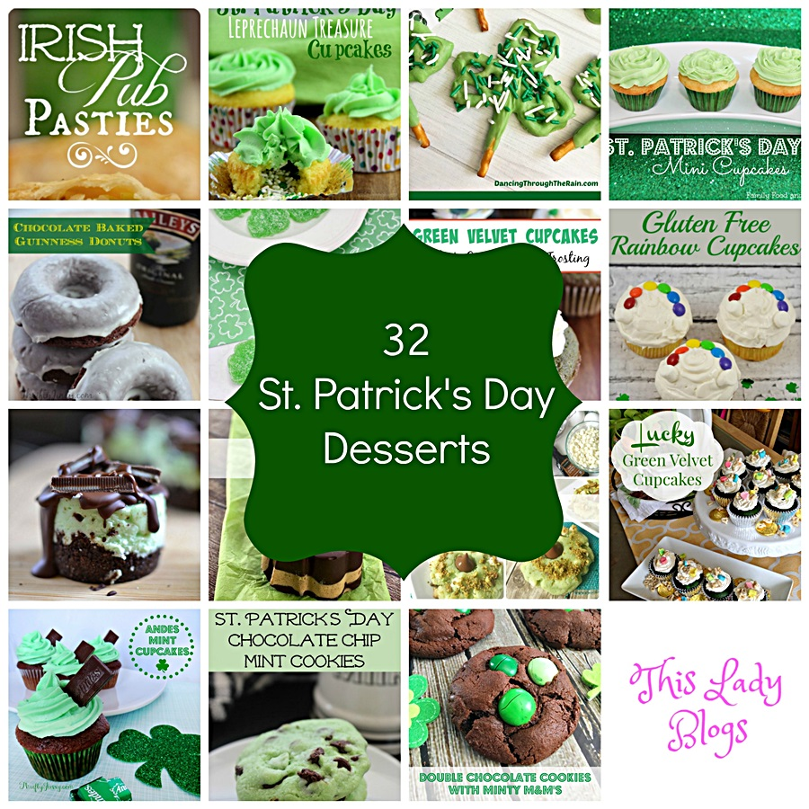 32 Delicious St. Patrick's Day Desserts #Recipe