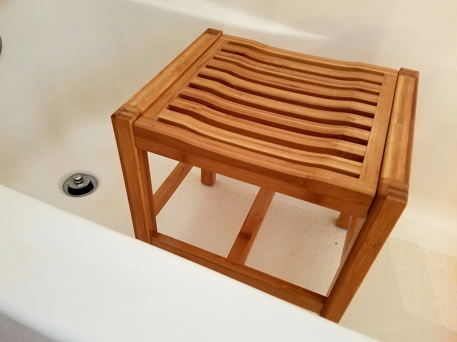 Toilettree Products Bamboo Bathroom Bench Is A Lifesaver Review This Lady Blogs